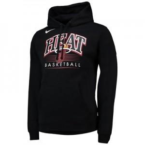 Miami Heat Nike Crest Logo Hoodie - Black - Mens