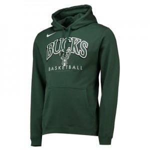 Milwaukee Bucks Nike Crest Logo Hoodie - Black - Mens
