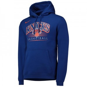 New York Knicks Nike Crest Logo Hoodie - Rush Blue - Mens