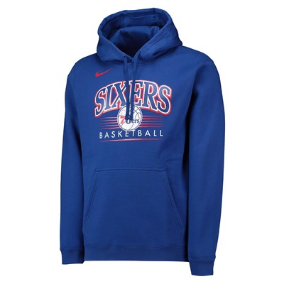 Philadelphia 76ers Nike Crest Logo Hoodie - Rush Blue - Mens