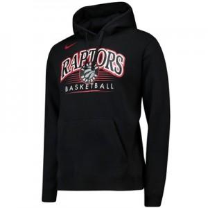 Toronto Raptors Nike Crest Logo Hoodie - Black - Mens