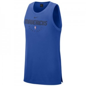 Dallas Mavericks Nike Elite Practise Tank - Mens