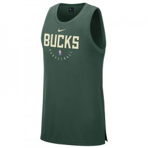 Milwaukee Bucks Nike Elite Practise Tank - Mens