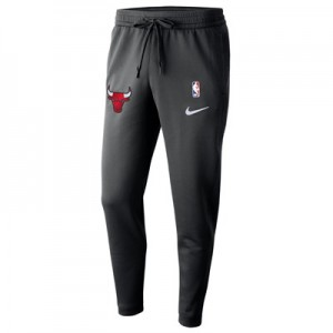 Chicago Bulls Nike Thermaflex Showtime Pant - Black - Mens
