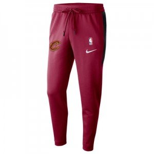 Cleveland Cavaliers Nike Thermaflex Showtime Pant - Team Red - Mens