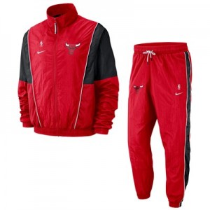Chicago Bulls Nike Courtside Tracksuit - University Red/Black - Mens