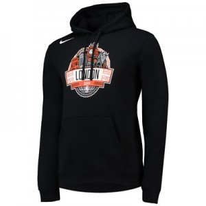 New York Knicks Nike London Game 2019 Hoodie - Black - Mens