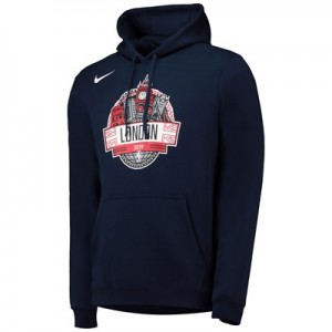 Washington Wizards Nike London Game 2019 Hoodie -  College Navy - Mens