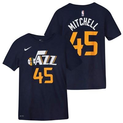Utah Jazz Nike Donovan Mitchell Icon Name & Number T-Shirt - Youth