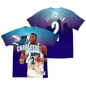 Charlotte Hornets Johnson City Pride Name & Number T-Shirt By Mitchell & Ness - Mens