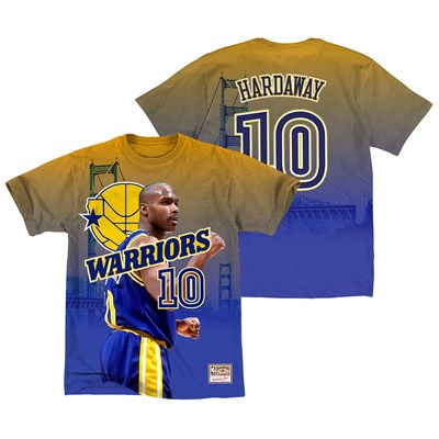 Golden State Warriors Hardaway City Pride Name & Number T-Shirt By Mitchell & Ness - Mens