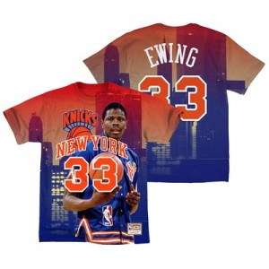 New York Knicks Ewing City Pride Name & Number T-Shirt By Mitchell & Ness - Mens
