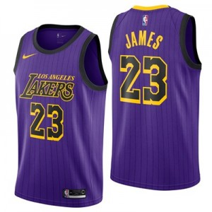 Los Angeles Lakers Nike City Edition - LeBron James - Mens