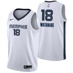 Nike Memphis Grizzlies Nike Association Swingman Jersey - Yuta Watanabe - Mens Memphis Grizzlies Nike Association Swingman Jersey - Yuta Watanabe - Mens