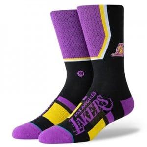 Los Angeles Lakers Shortcut Sock - Mens