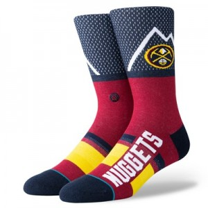 Denver Nuggets Shortcut Sock - Mens