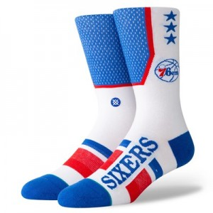 Philadelphia 76ers Shortcut Sock - Mens