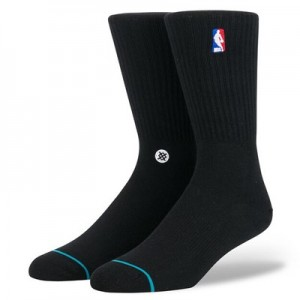NBA Logoman Crew II Sock - Black - Mens