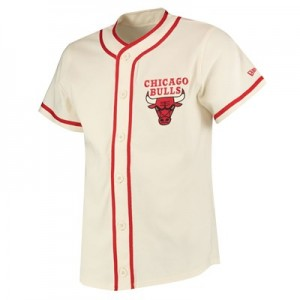 Chicago Bulls New Era Piping Button Up Top - Mens