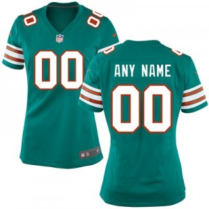 Miami Dolphins Alternate Game Jersey - Custom - Womens