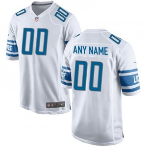 Detroit Lions Road Game Jersey - Custom - Mens