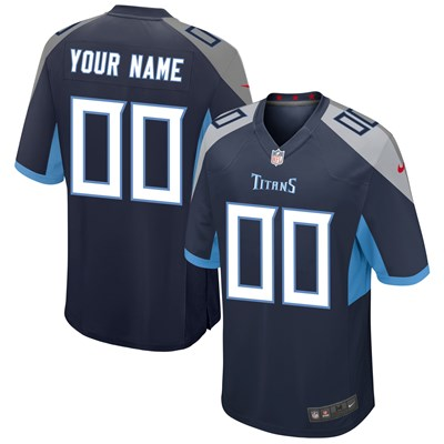 Tennessee Titans Home Game Jersey - Custom - Mens