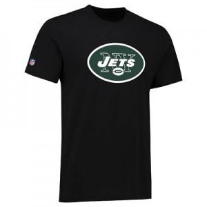 New York Jets Team Logo Core T-Shirt - Black - Mens