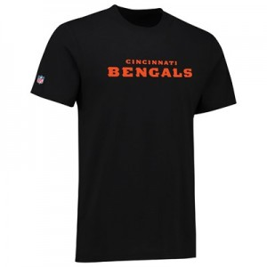Cincinnati Bengals Team Wordmark Core T-Shirt - Black - Mens