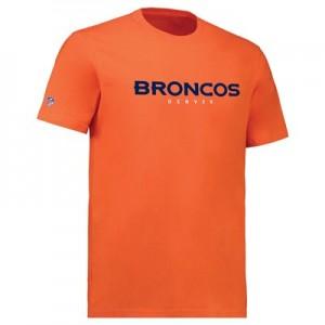 Denver Broncos Team Wordmark Core T-Shirt - Orange - Mens