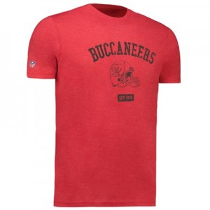 Tampa Bay Buccaneers Helmet Fashion T-Shirt - Uni Red - Mens