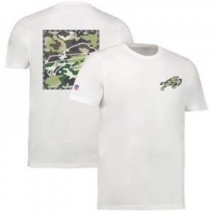 Buffalo Bills Camo Team Logo Core T-Shirt - White - Mens