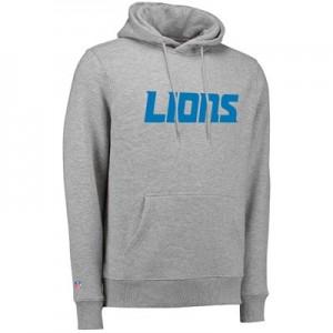 Detroit Lions Team Wordmark Core Hoodie - Athletic Grey - Mens