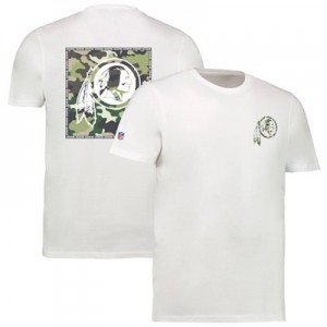 Washington Redskins Camo Team Logo Core T-Shirt - White - Mens