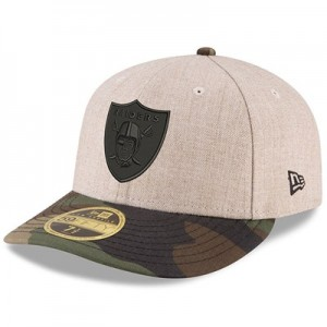 Oakland Raiders New Era Heather Camo Low Profile 59FIFTY Fitted Cap