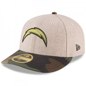 Los Angeles Chargers New Era Heather Camo Low Profile 59FIFTY Fitted Cap