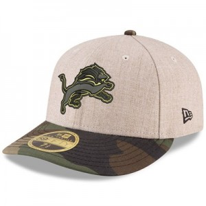 Detroit Lions New Era Heather Camo Low Profile 59FIFTY Fitted Cap