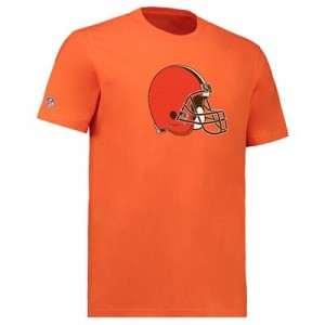 Cleveland Browns Mesh Team Logo Core T-Shirt - Orange - Mens
