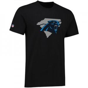 Carolina Panthers Panther States Hometown Core T-Shirt - Black - Mens