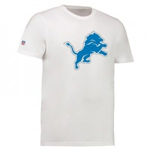 Detroit Lions Team Logo Core T-Shirt - White - Mens