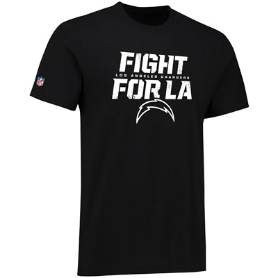 Los Angeles Chargers Fight for LA Hometown Core T-Shirt - Black - Mens