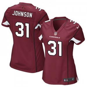 Arizona Cardinals Home Game Jersey - David Johnson - Womens