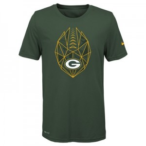 Green Bay Packers Nike Dri-Fit Football Icon T-Shirt - Youth