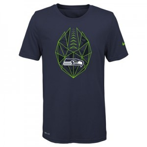 Seattle Seahawks Nike Dri-Fit Football Icon T-Shirt - Youth