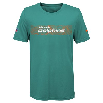 Miami Dolphins Nike Dri-Fit Onfield Legend T-Shirt - Youth