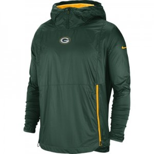 Green Bay Packers Nike Lightweight Alpha Fly Rush Jacket - Mens