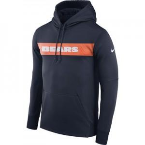 Chicago Bears Nike Therma Hoodie PO - Mens