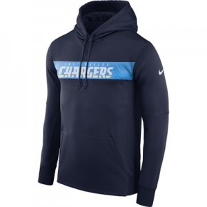 Los Angeles Chargers Nike Therma Hoodie PO - Mens