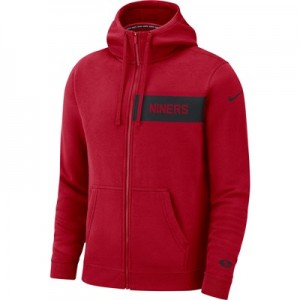 San Francisco 49ers Nike FZ Fleece Club Hoodie - Mens