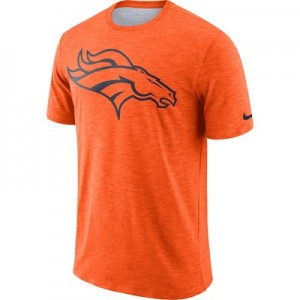 Denver Broncos Nike Dri-Fit Legend Slub On-Field T-Shirt - Mens