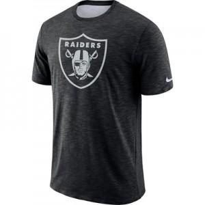 Oakland Raiders Nike Dri-Fit Legend Slub On-Field T-Shirt - Mens